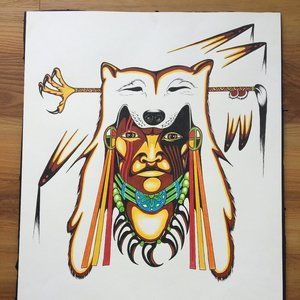 Aboriginal Like Original Art. Edwin Bear, MB, CDN